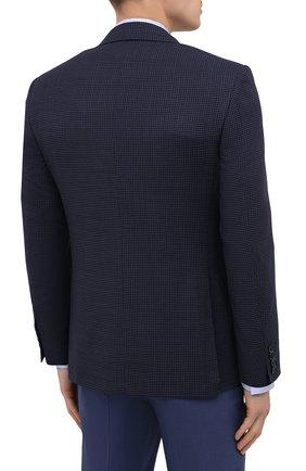 Мужской шерстяной пиджак CANALI темно-синего цвета, арт. 23288/CF03169/116   Фото 4