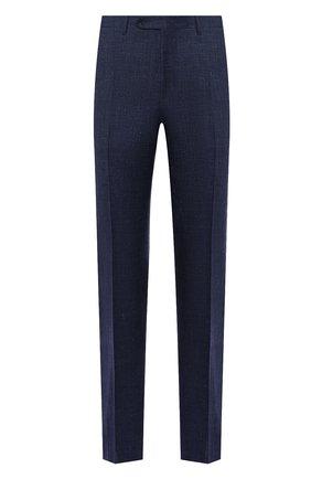 Мужские брюки из шерсти и шелка CANALI темно-синего цвета, арт. 71012/AE00386 | Фото 1