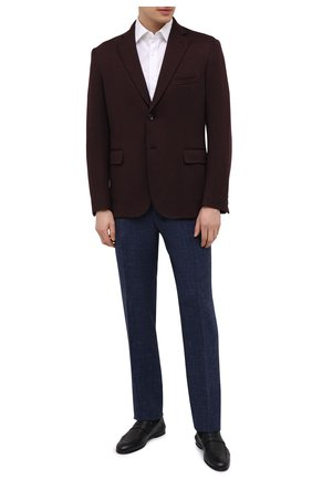 Мужские брюки из шерсти и шелка CANALI темно-синего цвета, арт. 71012/AE00386 | Фото 2