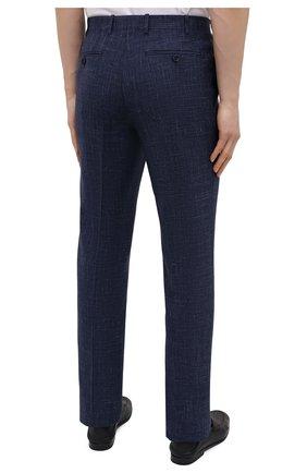 Мужские брюки из шерсти и шелка CANALI темно-синего цвета, арт. 71012/AE00386 | Фото 4