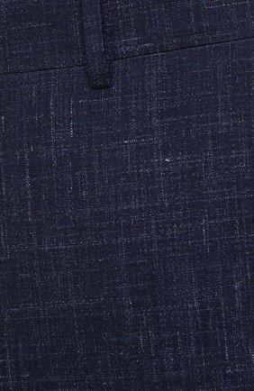 Мужские брюки из шерсти и шелка CANALI темно-синего цвета, арт. 71012/AE00386 | Фото 5
