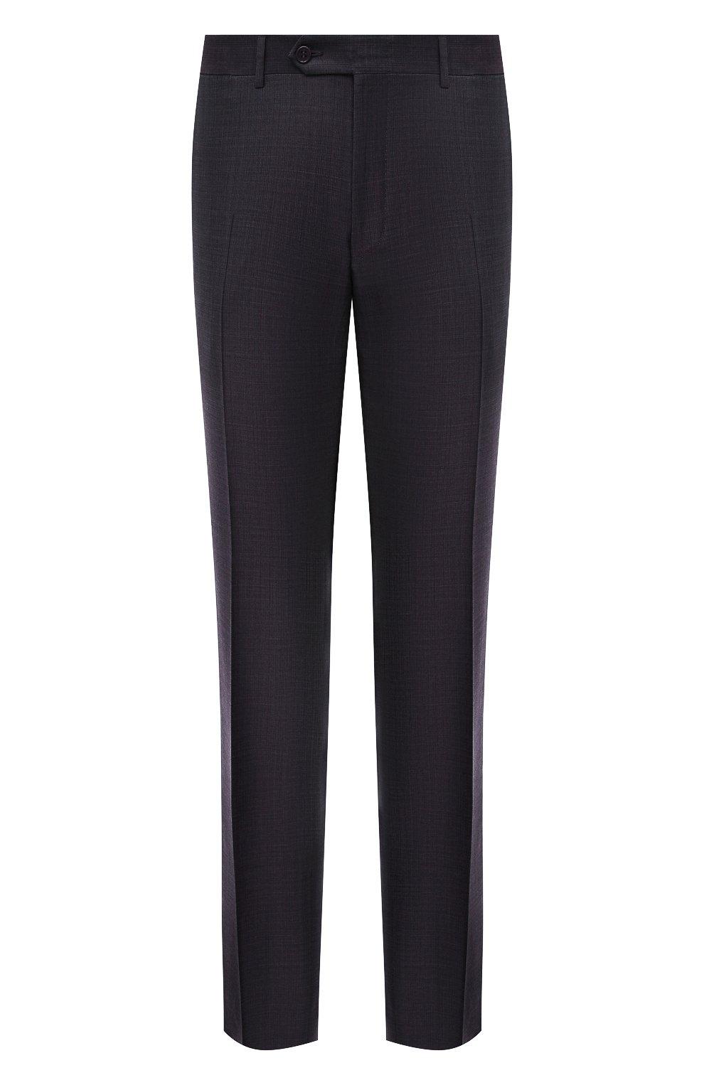 Мужские шерстяные брюки CANALI темно-фиолетового цвета, арт. 71019/AA02524   Фото 1