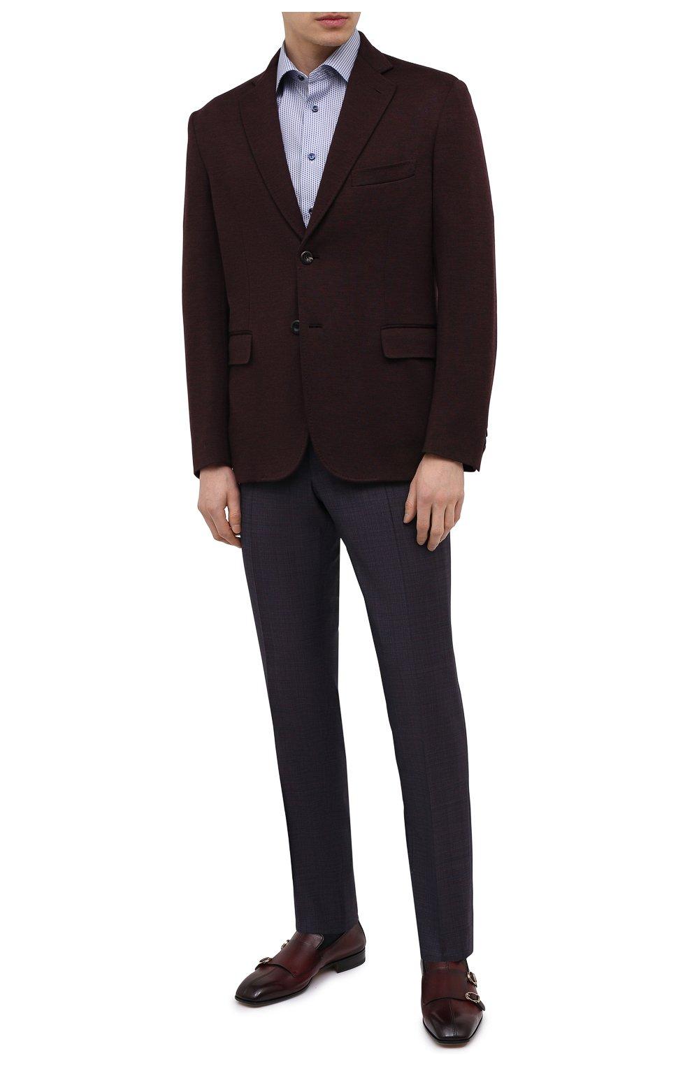 Мужские шерстяные брюки CANALI темно-фиолетового цвета, арт. 71019/AA02524   Фото 2