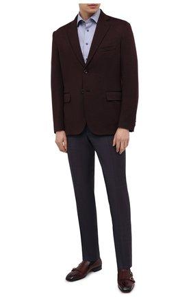 Мужские шерстяные брюки CANALI темно-фиолетового цвета, арт. 71019/AA02524 | Фото 2