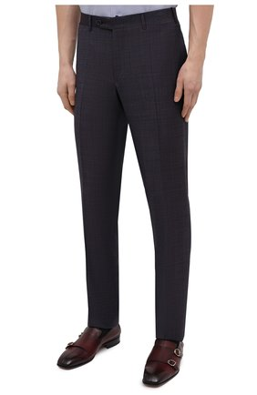 Мужские шерстяные брюки CANALI темно-фиолетового цвета, арт. 71019/AA02524   Фото 3
