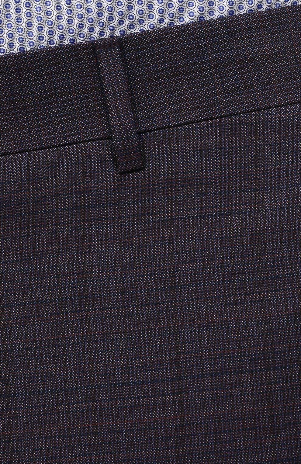 Мужские шерстяные брюки CANALI темно-фиолетового цвета, арт. 71019/AA02524   Фото 5