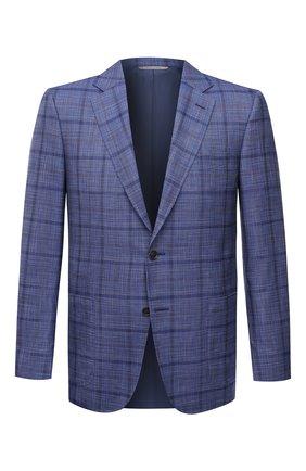 Мужской пиджак из шерсти и шелка CANALI синего цвета, арт. E11288/CX02059 | Фото 1