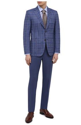Мужской пиджак из шерсти и шелка CANALI синего цвета, арт. E11288/CX02059 | Фото 2