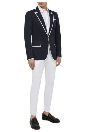 Мужской пиджак DOLCE & GABBANA темно-синего цвета, арт. G20V3T/FUGI2 | Фото 2
