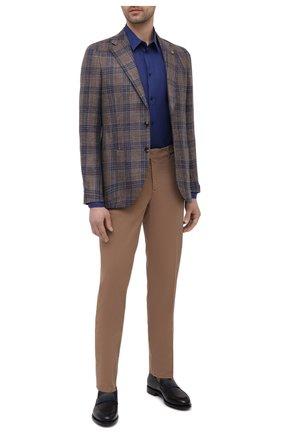 Мужская льняная рубашка DOLCE & GABBANA темно-синего цвета, арт. G5EJ1Z/FU4IK | Фото 2