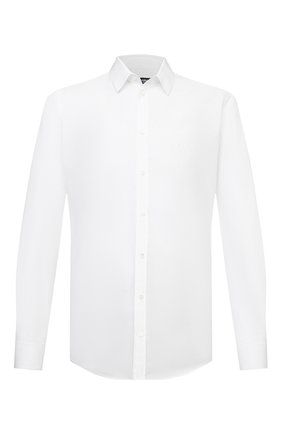 Мужская хлопковая рубашка DOLCE & GABBANA белого цвета, арт. G5EJ1Z/GEN86 | Фото 1