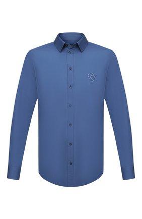 Мужская хлопковая рубашка DOLCE & GABBANA синего цвета, арт. G5EJ1Z/GEN98 | Фото 1