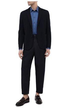 Мужская хлопковая рубашка DOLCE & GABBANA синего цвета, арт. G5EJ1Z/GEN98 | Фото 2