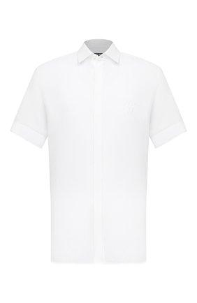 Мужская льняная рубашка DOLCE & GABBANA белого цвета, арт. G5EX4Z/FU4IK | Фото 1