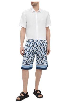 Мужская льняная рубашка DOLCE & GABBANA белого цвета, арт. G5EX4Z/FU4IK | Фото 2