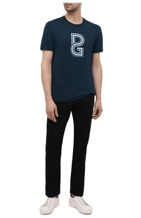 Мужская хлопковая футболка DOLCE & GABBANA темно-синего цвета, арт. G8JX7T/FI70H | Фото 2