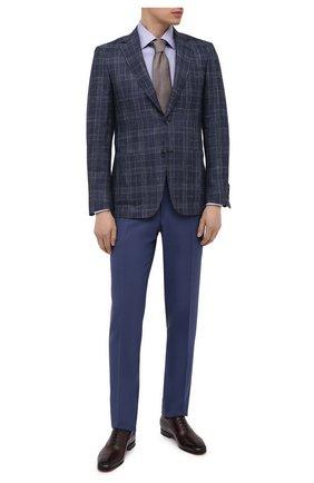 Мужские кожаные оксфорды SANTONI бордового цвета, арт. MCME17516SA3EHMLB52 | Фото 2 (Материал внутренний: Натуральная кожа; Стили: Классический)