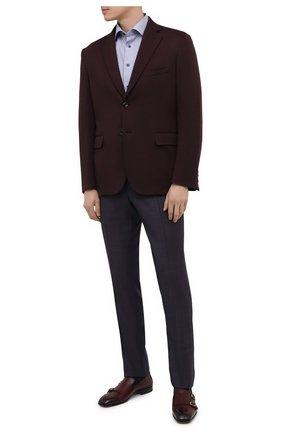 Мужские кожаные лоферы SANTONI бордового цвета, арт. MCLI17570LA3SGTHQ52 | Фото 2 (Материал внутренний: Натуральная кожа; Мужское Кросс-КТ: Лоферы-обувь; Стили: Классический)