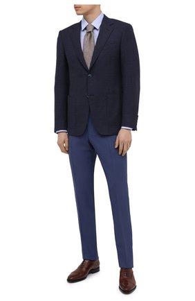 Мужские кожаные оксфорды W.GIBBS коричневого цвета, арт. 7255018/2102 | Фото 2 (Материал внутренний: Натуральная кожа; Стили: Классический)