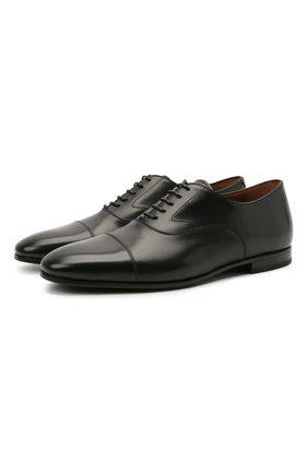 Мужские кожаные оксфорды W.GIBBS черного цвета, арт. 0801045/2441   Фото 1