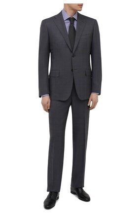 Мужские кожаные оксфорды W.GIBBS черного цвета, арт. 0801045/2441   Фото 2