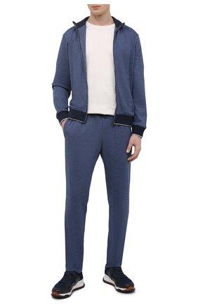 Мужской спортивный костюм из шерсти и хлопка LUCIANO BARBERA голубого цвета, арт. 119500/19319 | Фото 1