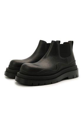 Мужские кожаные челси tire BOTTEGA VENETA черного цвета, арт. 630281/VBS50 | Фото 1 (Каблук высота: Высокий; Материал внутренний: Натуральная кожа; Подошва: Массивная; Мужское Кросс-КТ: Челси-обувь, Сапоги-обувь)