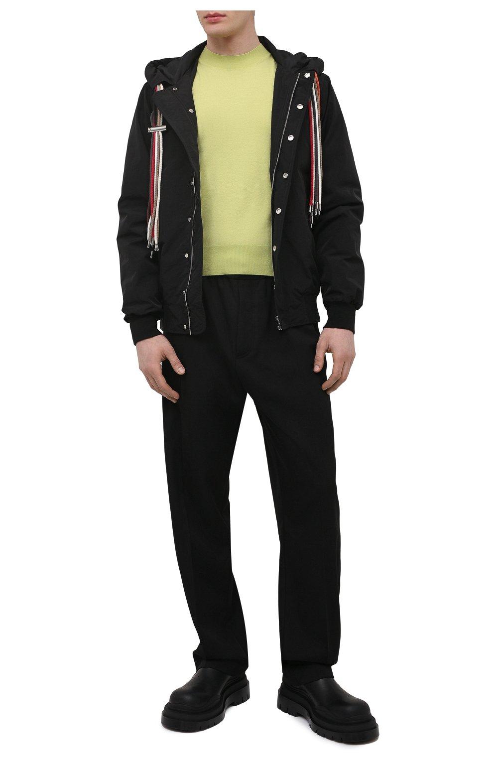 Мужские кожаные челси tire BOTTEGA VENETA черного цвета, арт. 630281/VBS50   Фото 2 (Каблук высота: Высокий; Материал внутренний: Натуральная кожа; Подошва: Массивная; Мужское Кросс-КТ: Сапоги-обувь, Челси-обувь)
