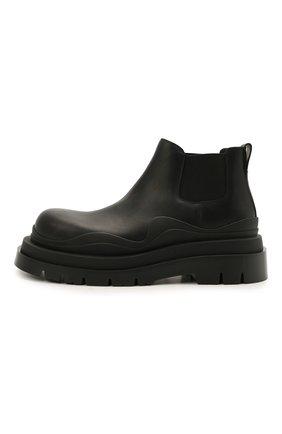 Мужские кожаные челси tire BOTTEGA VENETA черного цвета, арт. 630281/VBS50   Фото 3 (Каблук высота: Высокий; Материал внутренний: Натуральная кожа; Подошва: Массивная; Мужское Кросс-КТ: Сапоги-обувь, Челси-обувь)