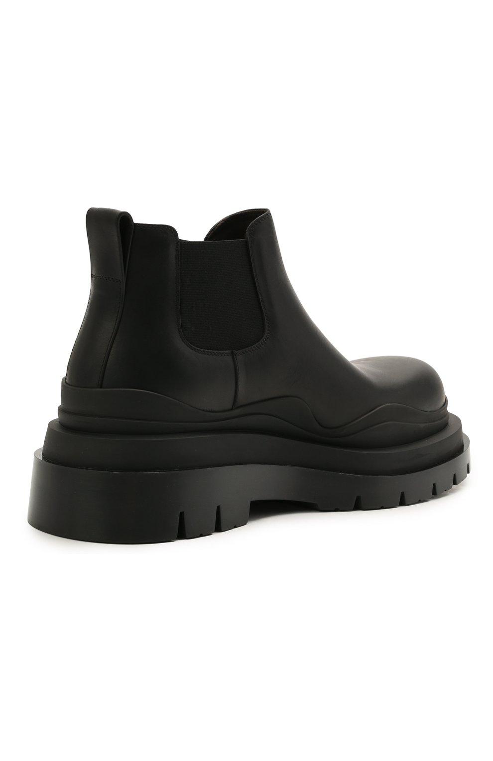 Мужские кожаные челси tire BOTTEGA VENETA черного цвета, арт. 630281/VBS50   Фото 4 (Каблук высота: Высокий; Материал внутренний: Натуральная кожа; Подошва: Массивная; Мужское Кросс-КТ: Сапоги-обувь, Челси-обувь)