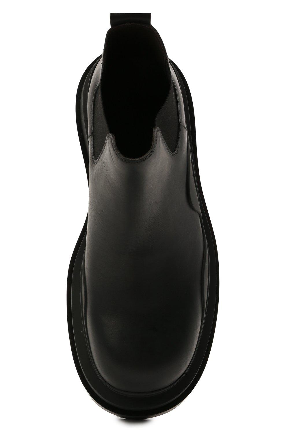 Мужские кожаные челси tire BOTTEGA VENETA черного цвета, арт. 630281/VBS50   Фото 5 (Каблук высота: Высокий; Материал внутренний: Натуральная кожа; Подошва: Массивная; Мужское Кросс-КТ: Сапоги-обувь, Челси-обувь)