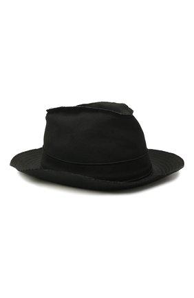 Мужская шерстяная шляпа YOHJI YAMAMOTO черного цвета, арт. HD-H07-100 | Фото 1