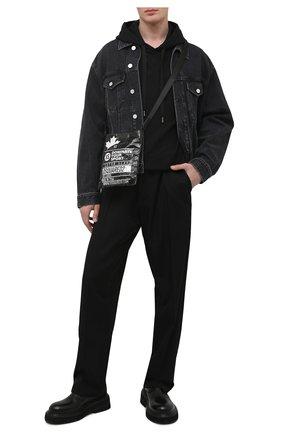 Мужская сумка DSQUARED2 черного цвета, арт. CBM0019 16803927 | Фото 2 (Ремень/цепочка: На ремешке; Материал: Текстиль)