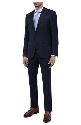 Мужские кожаные монки SANTONI коричневого цвета, арт. MCC016036MC3HCEPT52 | Фото 2 (Материал внутренний: Натуральная кожа; Стили: Классический)