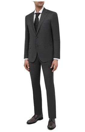 Мужской шерстяной костюм CORNELIANI темно-серого цвета, арт. 87N268-1117216/92 Q1   Фото 1