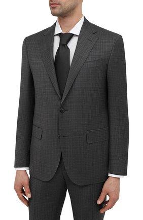 Мужской шерстяной костюм CORNELIANI темно-серого цвета, арт. 87N268-1117216/92 Q1   Фото 2