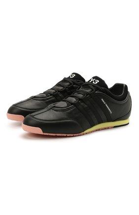 Мужские кожаные кроссовки boxing Y-3 черного цвета, арт. FZ4476/M | Фото 1 (Подошва: Плоская; Материал внутренний: Натуральная кожа; Стили: Спорт)