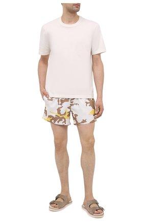 Мужские плавки-шорты BOSS светло-бежевого цвета, арт. 50446587 | Фото 2
