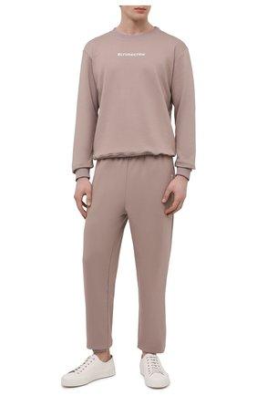 Мужской хлопковый спортивный костюм SEVEN LAB светло-коричневого цвета, арт. 66SWP21-#cr cacao | Фото 1