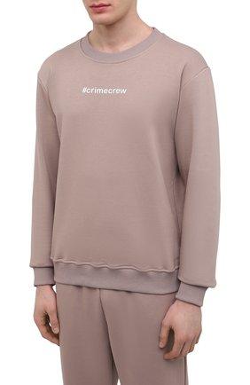 Мужской хлопковый спортивный костюм SEVEN LAB светло-коричневого цвета, арт. 66SWP21-#cr cacao | Фото 2
