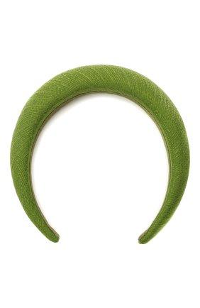 Женский ободок для волос FLOWER ME зеленого цвета, арт. HAIRBAND-LI008010L | Фото 1
