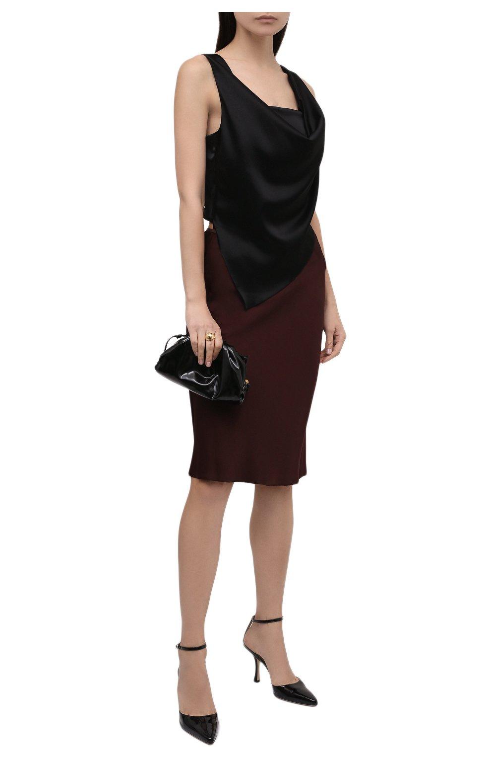 Женские кожаные туфли mair 90 JIMMY CHOO черного цвета, арт. MAIR 90/GHE | Фото 2 (Каблук высота: Высокий; Материал внутренний: Натуральная кожа; Каблук тип: Шпилька; Подошва: Плоская)