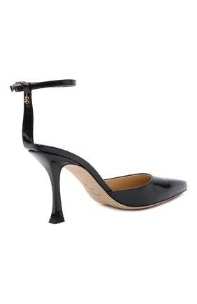 Женские кожаные туфли mair 90 JIMMY CHOO черного цвета, арт. MAIR 90/GHE | Фото 5 (Каблук высота: Высокий; Материал внутренний: Натуральная кожа; Каблук тип: Шпилька; Подошва: Плоская)