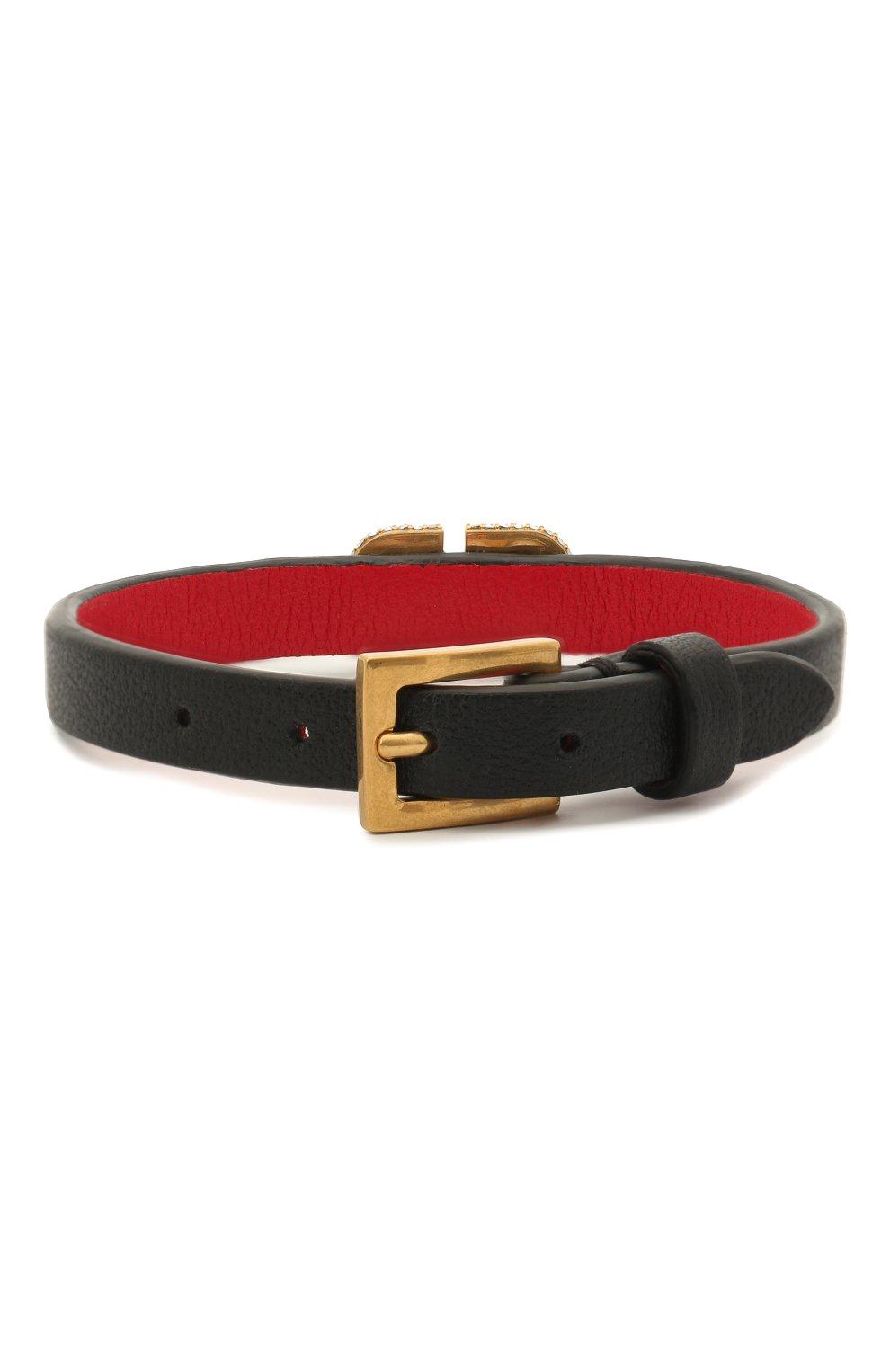 Женский кожаный браслет valentino garavani vlogo VALENTINO черного цвета, арт. VW2J0H19/LWV | Фото 2