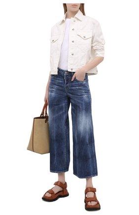 Женские джинсы DSQUARED2 темно-синего цвета, арт. S72LB0398/S30309 | Фото 2