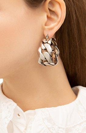 Женские серьги ALEXANDER MCQUEEN серебряного цвета, арт. 659630/J160Y | Фото 2