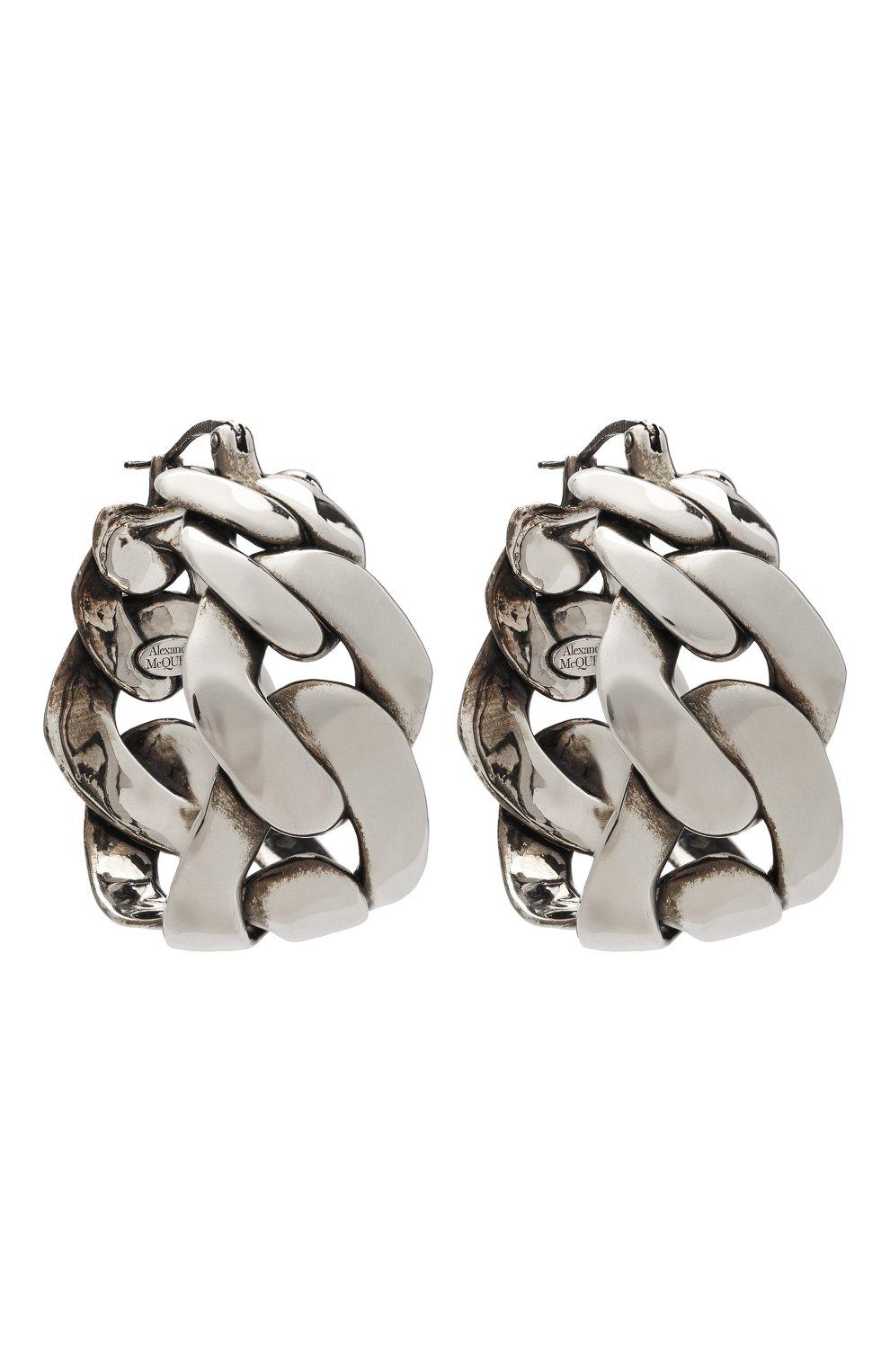 Женские серьги ALEXANDER MCQUEEN серебряного цвета, арт. 659630/J160Y   Фото 3