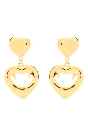 Женские клипсы SAINT LAURENT золотого цвета, арт. 650842/Y1500 | Фото 1