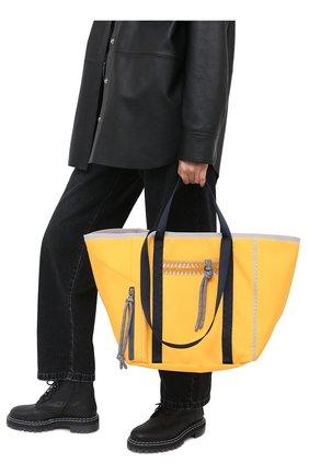 Женский сумка-тоут jwa 1 moncler jw anderson MONCLER желтого цвета, арт. G1-09E-5D700-00-02SW2   Фото 2