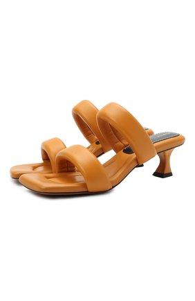 Женские кожаные мюли PROENZA SCHOULER коричневого цвета, арт. PS35051A/13005 | Фото 1